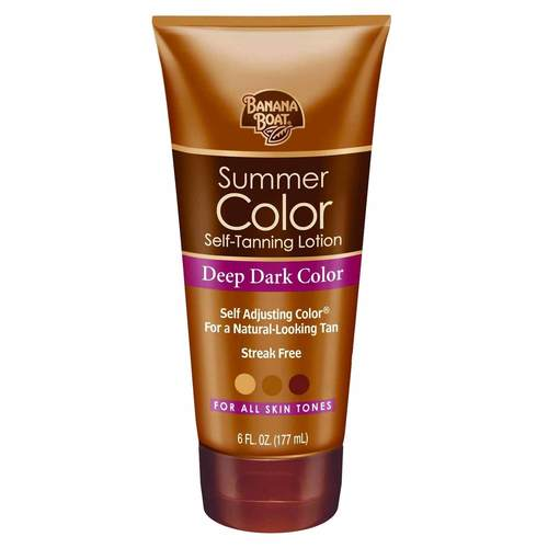 Summer Color Self-Tanning Lotion Deep Dark Color