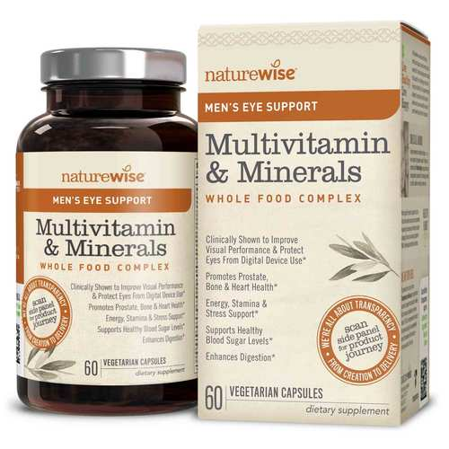 Men's Multivitamin Mineral Whole Food Complex with Eye Support