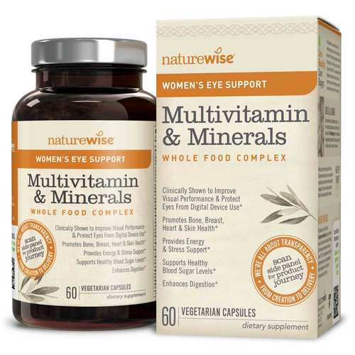 Women's Multivitamin Mineral Whole Food Complex with Eye Support