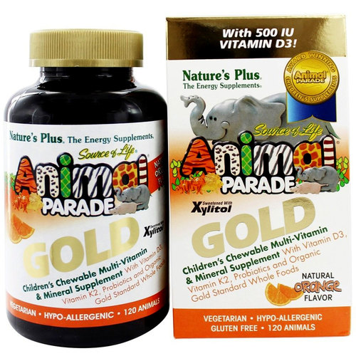 Animal Parade Gold Children's Chewable Multi-Vitamin  Mineral